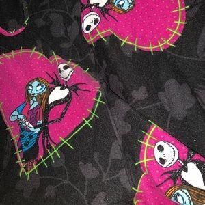 Lularoe new tc2 jack and sally pink hearts Disney